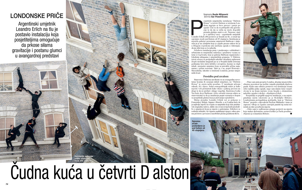 Leandro Erlich, Gloria Magazine
