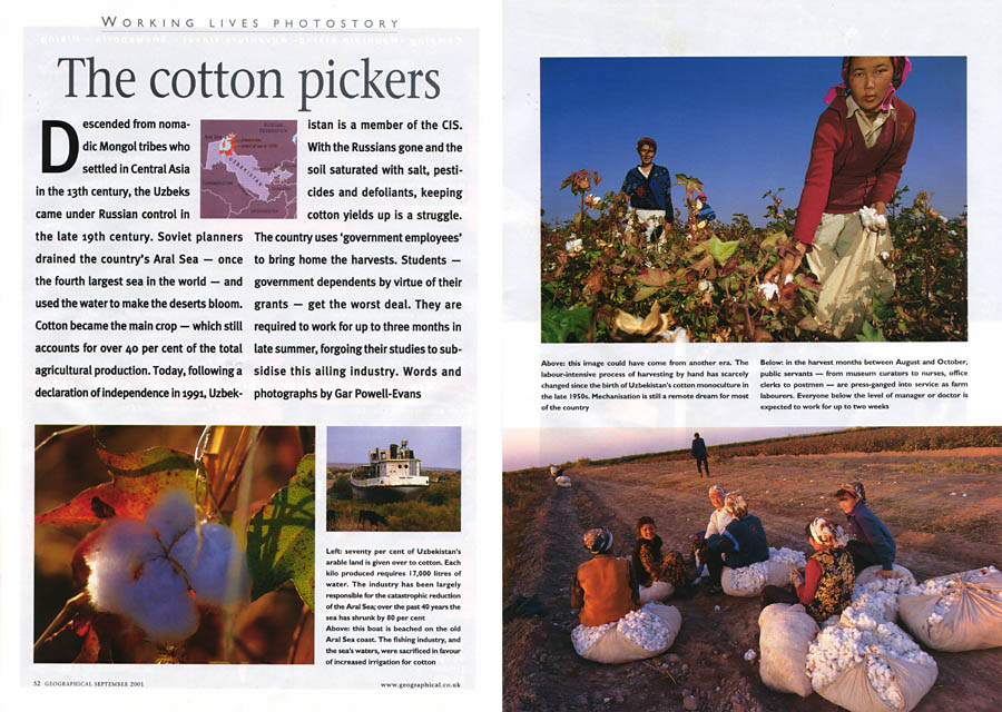 Cotton Pickers, Geographical