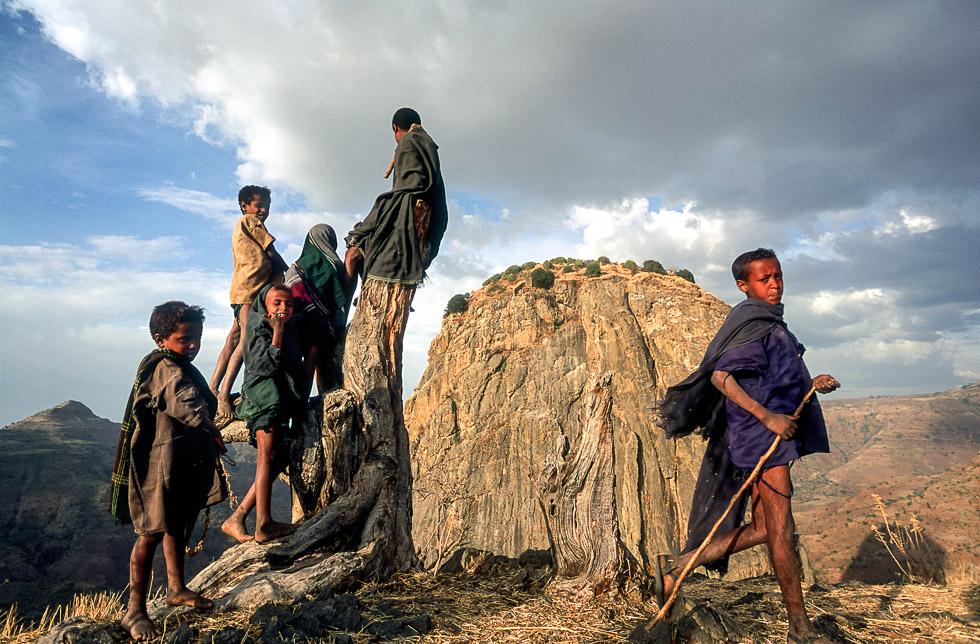 Village children, Mt Wehni