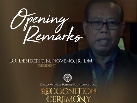 Opening Remarks by dr. desiderio N. Noveno, Jr., DM