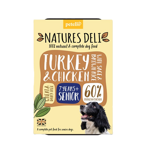 Natures Deli Senior (Turkey & Chicken) 400g tray