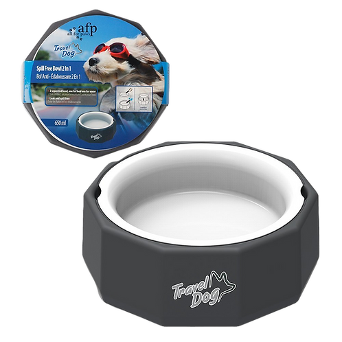 All For Paws Travel 2 in 1 Bowl