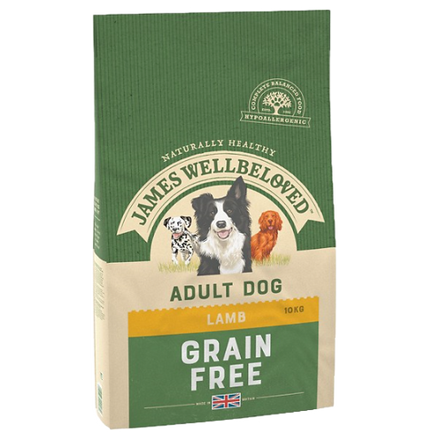 James Wellbeloved Lamb & Veg Adult Grain Free 10kg
