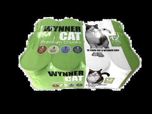Wynner Premium Cat Chunks Variety 12x400g
