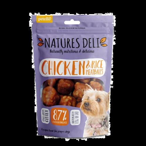Natures Deli Chicken & Rice Meatballs 100g