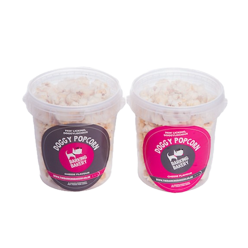 Barking Bakery Doggy Cheesey Popcorn Tubs