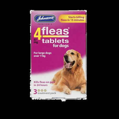 JVP 4 Fleas Dog Flea Tablets For Large Dogs (3Tabs)