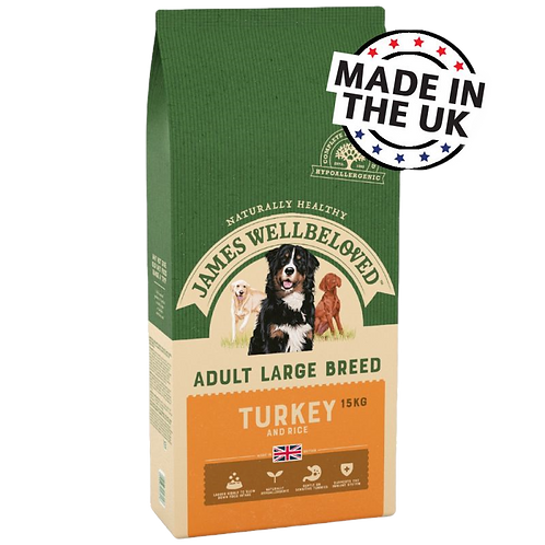 James Wellbeloved Adult Large Breed Turkey and Rice 15kg