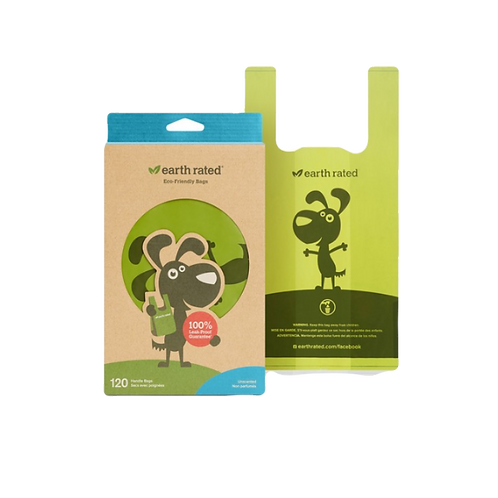 Earth Rated Poop Bags 120 Unscented Tie Handle Bags