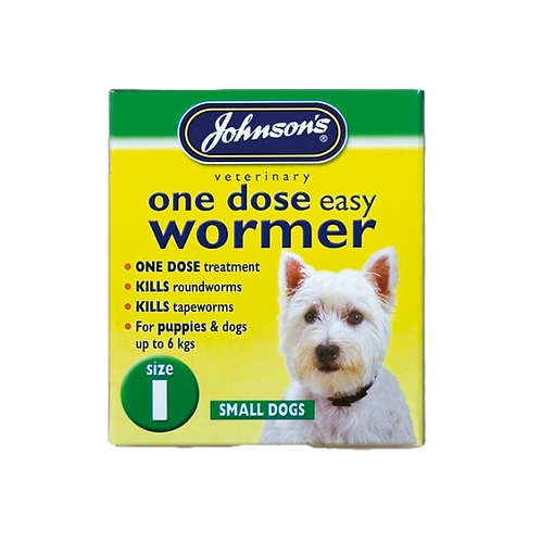 JVP One Dose Wormer For Small Dog Size 1