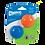 Thumbnail: Chuckit Strato Ball Small (2Pk)