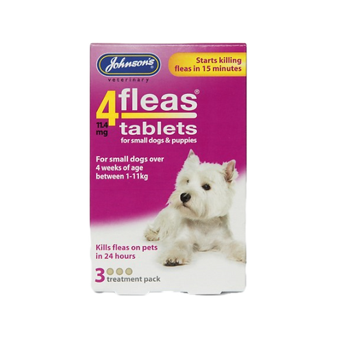 JVP 4 Fleas Small Dog/Puppy Flea Tablets (3Tabs)