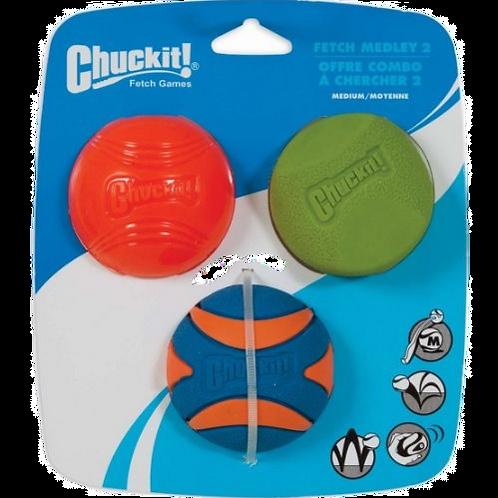 Chuckit! Fetch Medley 2 Assorted Medium (3 Pack)