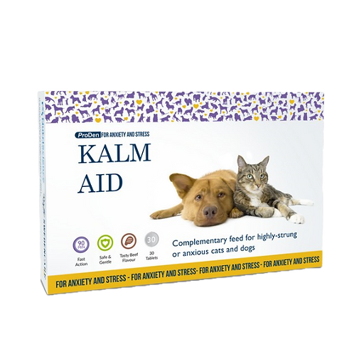 Pro Den Kalm Aid Tablets for Cats and Dogs