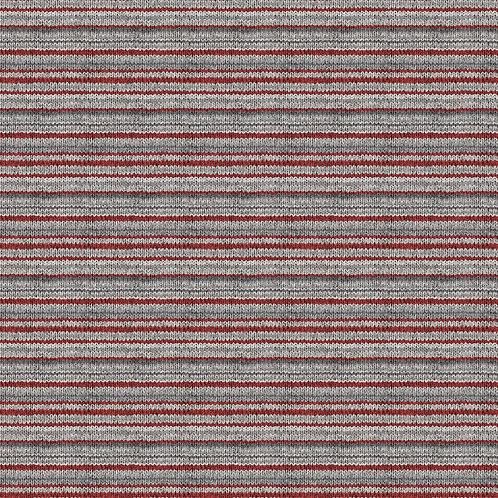 My Canada Flannel - Red Gray Multi Stripe