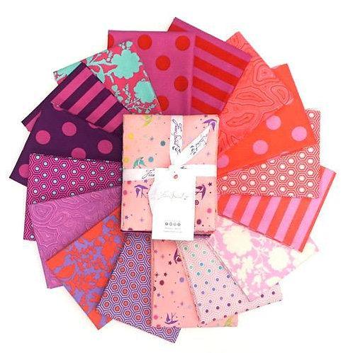Tula Pink FQ Bundle - 16 Pieces - Flamingo