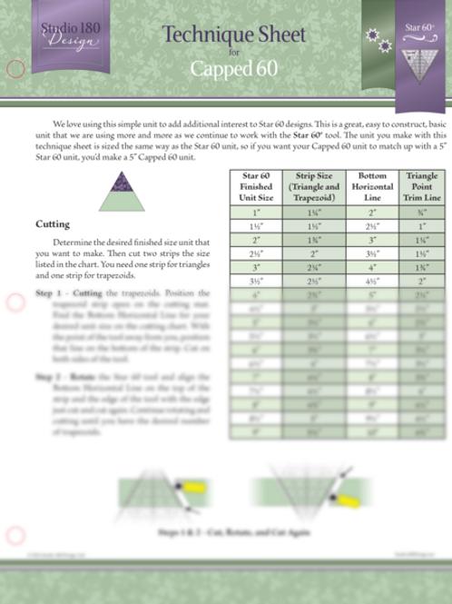 Technique Sheet - Capped 60
