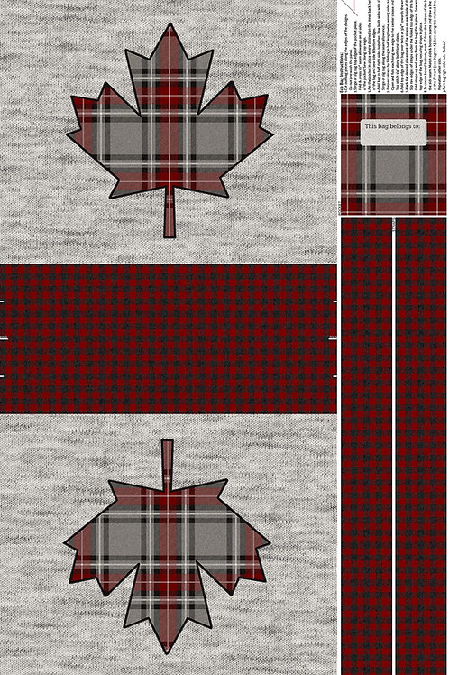 "My Canada Bag Panel 24"""