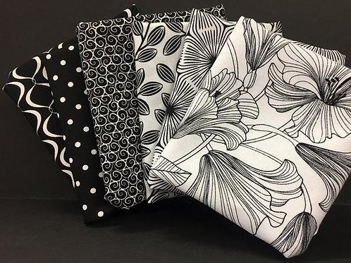 6 FQ Bundle - Black on White - White on Black