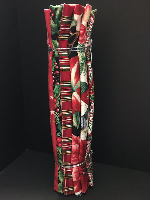 6 Half meter Cuts Christmas Fabric