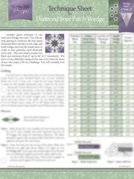 Diamond Four Patch Technique Sheet