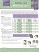 Migrating Geese Technique Sheets