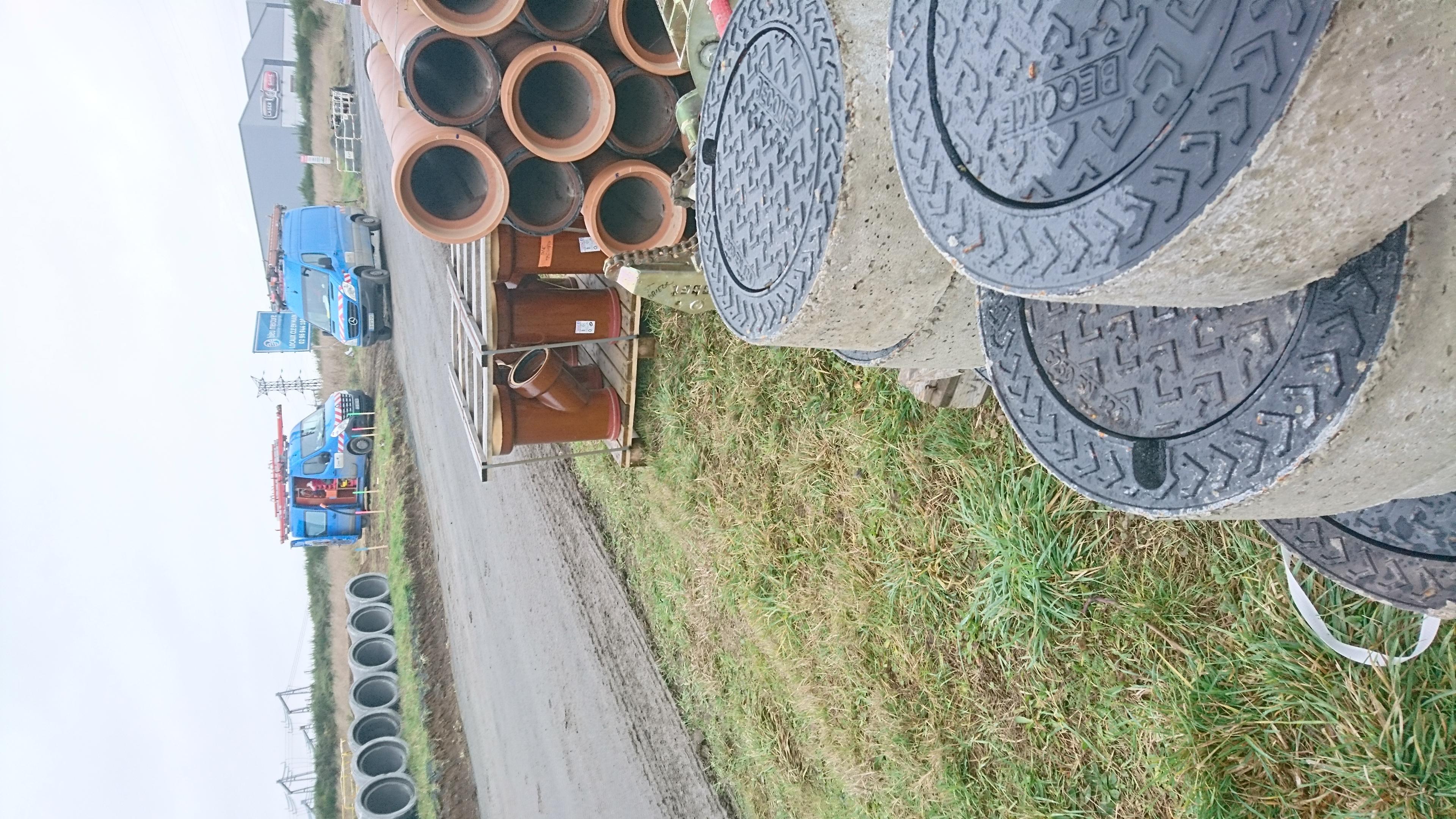 Stockage Grès chantier Trégueux
