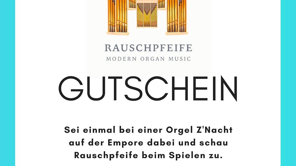 Konzertbeitrag und Gutschein Konzert Empore