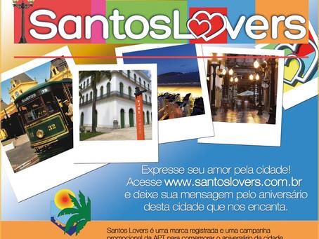 Santos Lovers: APT lança nova marca turística com ação para declarar o amor pela Cidade