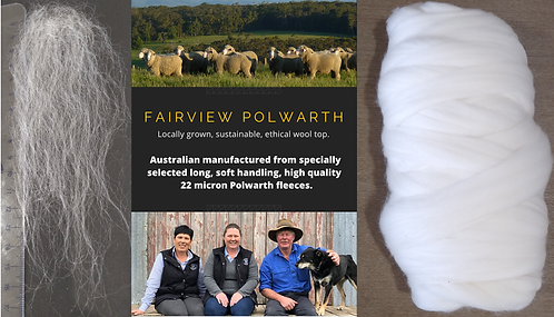 Single sourced Fairview Polwarth Top 22um