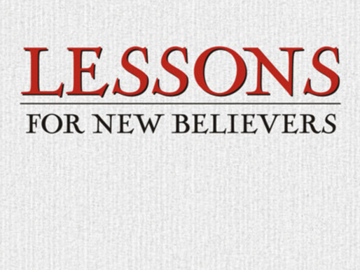 Lessons for New Believers Reading Challenge