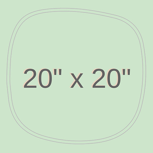"20"" x 20"""