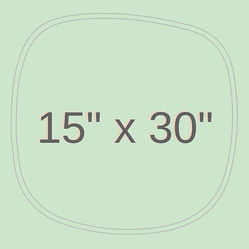 "15"" x 30"""