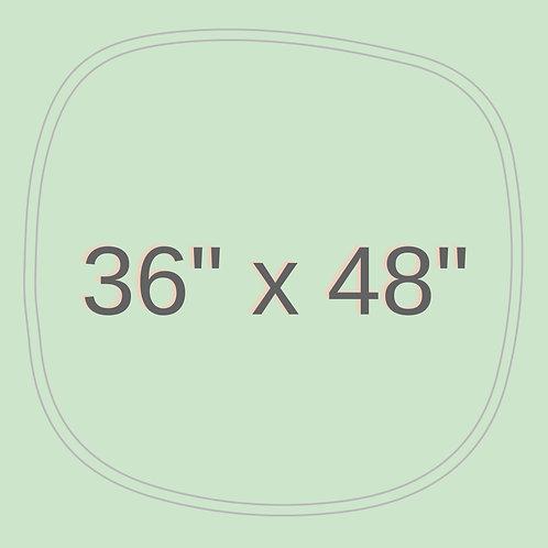 "36"" x 48"""