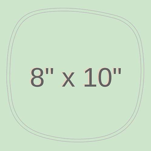 "8"" x 10"""