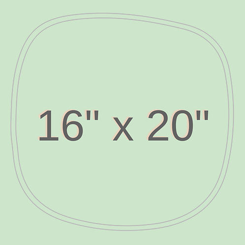 "16"" x 20"""