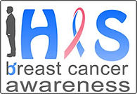HIS Breast Cancer Awareness Logo - Male Breast Cancer Ribbon
