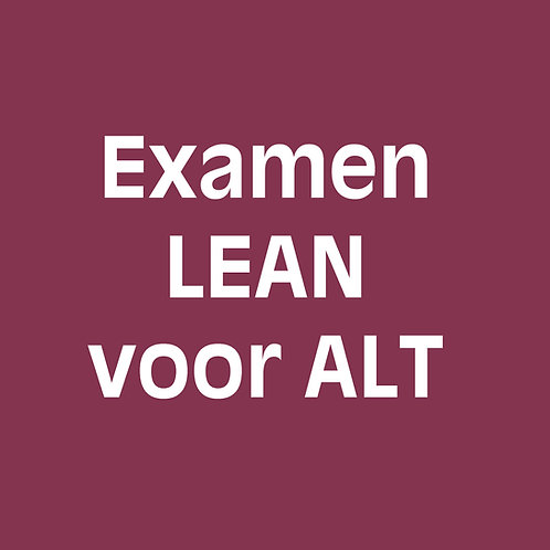 Examen lean voor agile-lean teamcoaches