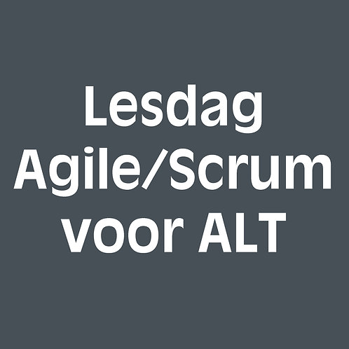 Losse lesdag agile/scrum voor agile-lean teamcoaches