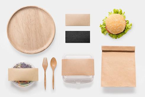 Design concept of mockup burger and sala