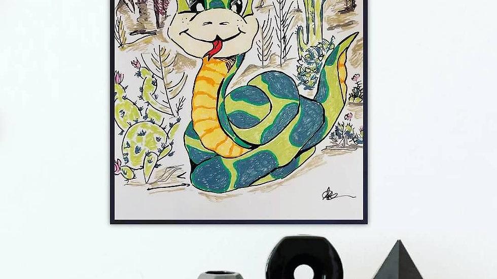 Felix the snake print