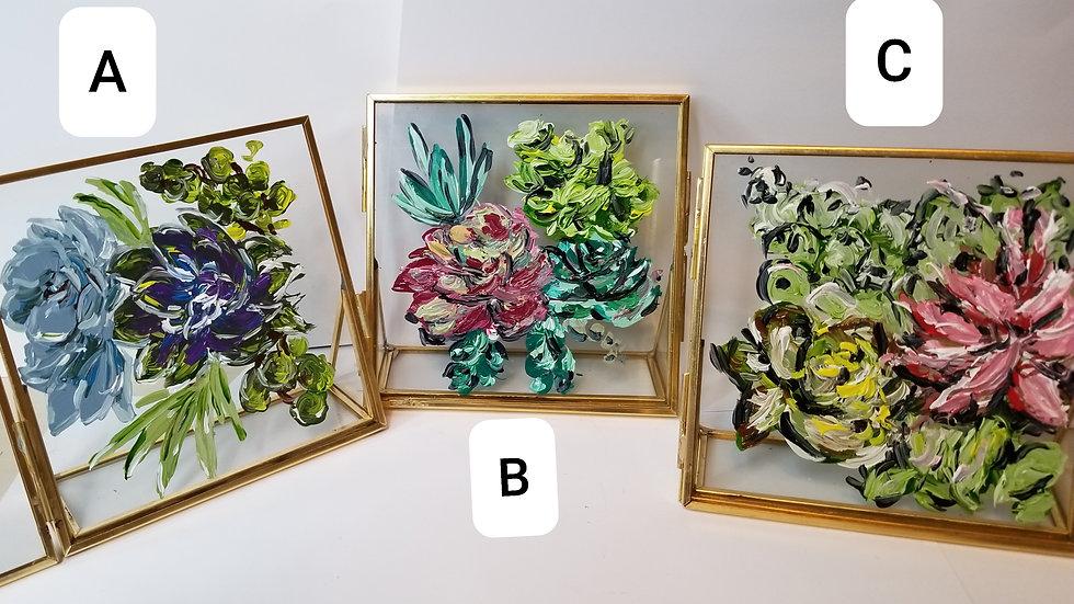 Mini Succulent Paintings