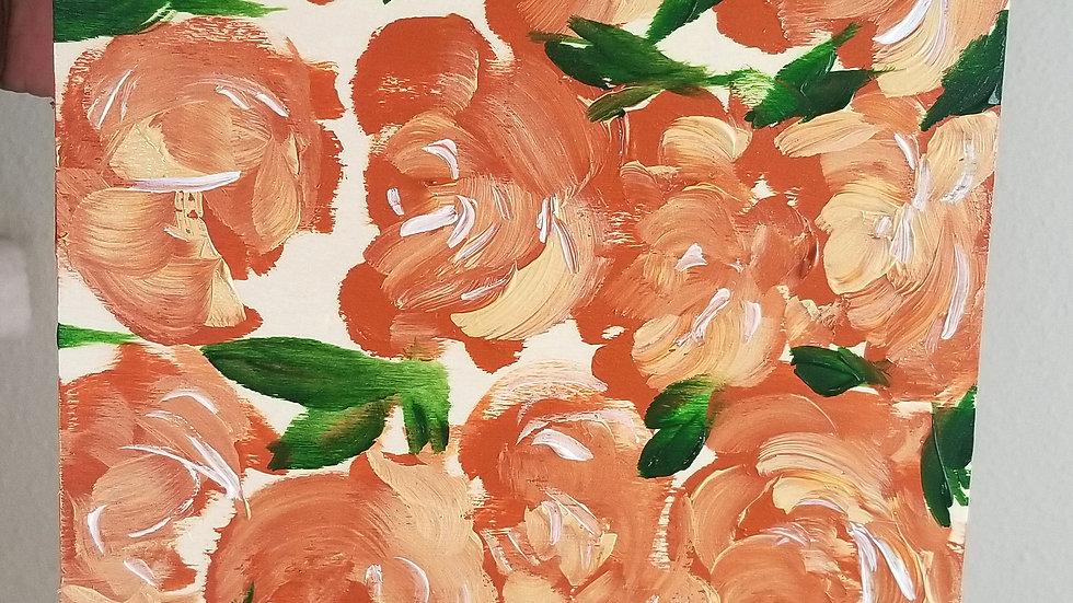 Peachy Wood Canvas