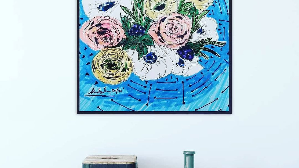 Anemones and Roses
