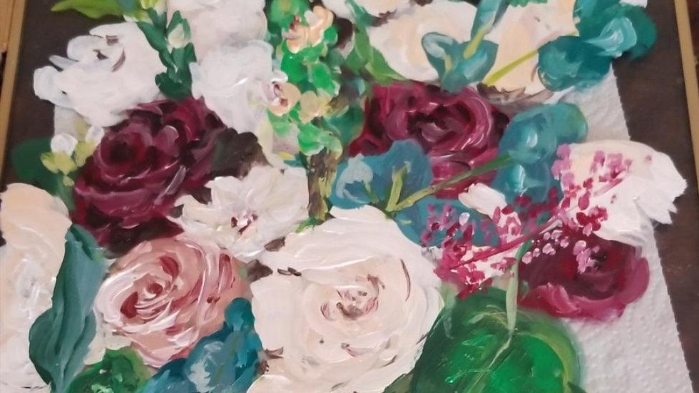 Custom Bouquet Paintings (Glass)