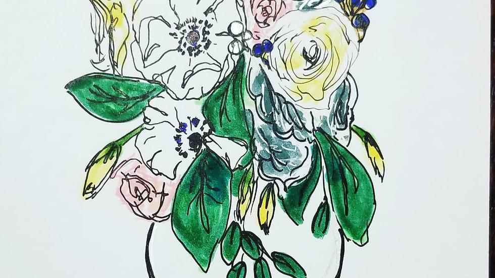 Linear Anemone Bouquet
