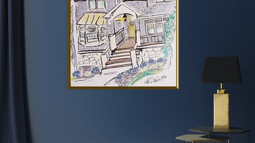 Minimalistic Custom Home illustrations