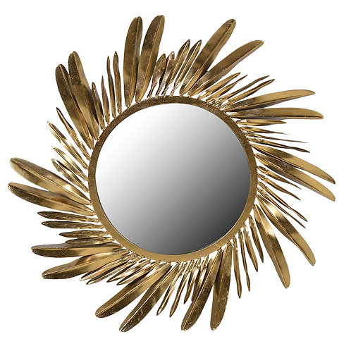 TimeLess Gold Feather Mirror