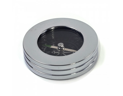 Chrome-plated Compass Paperweight