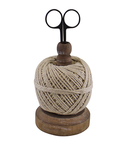 Craft Ball Of String On Stand With Scissors